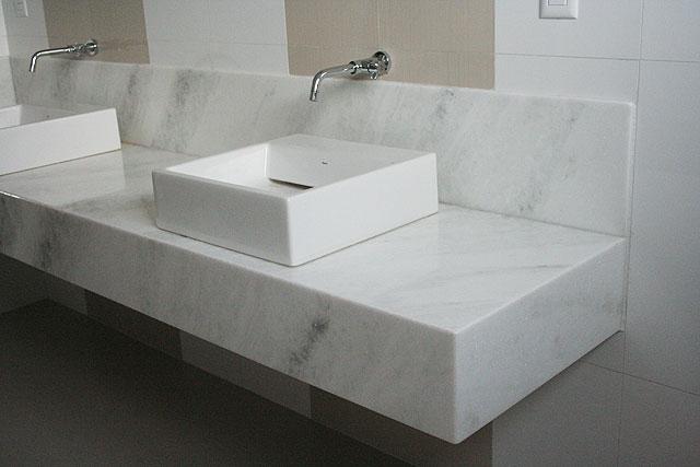 MARMORARIA ARTESANATO  Residenciais  Cozinhas, Banheiros, Salas # Pia De Marmore Para Banheiro Branco